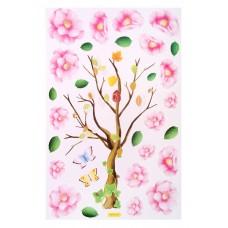 """Наклейка интерьерная """"Дерево с цветами"""" 40 х 63 см №4533.72"""