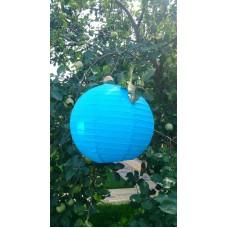 Фонарь подвесной, голубой, d-40 см №4281.61