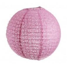 Фонарь подвесной,  цвет розовый с рисунком d-35 см №4287.96