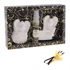 Набор подарочный Де Люкс ваниль (масло спрей 5 мл, подвеска гипс 2 шт) Ангел Хранитель 2,5х11,5х8 см №4303.39