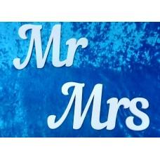 "Деревянные слова ""Mr Mrs"", 2 шт, 15 х 25см, 15 х 30см, цвет: белый №4367.375"