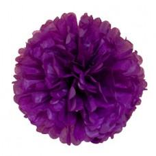 Помпон из бумаги 40 см фиолетовый №4135.75
