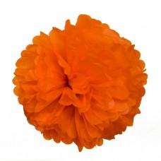 Помпон из бумаги 20 см оранжевый №4116.35