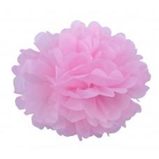Помпон из бумаги 25 см розовый №4118.45
