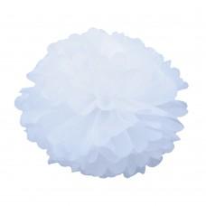 Помпон из бумаги 30 см белый №4120.50