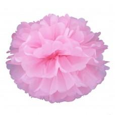Помпон из бумаги 40 см розовый №4130.75