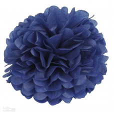 Помпон из бумаги 40 см темно-синий №4132.75