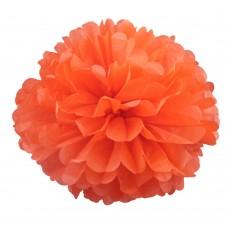 Помпон из бумаги 40 см оранжевый №4137.75