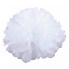 Помпон из бумаги 50 см белый №4139.100