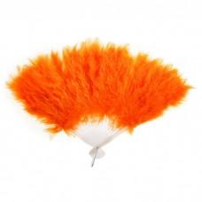 Веер пуховой цвет оранжевый, 25см №4152.65