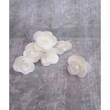 Шпильки Розочки айвори d:3см  латекс Цена: за 1 штуку №4233.23