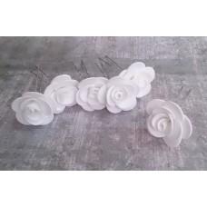 Шпильки Розочки белые d:3см  латекс Цена: за 1 штуку №4237.23