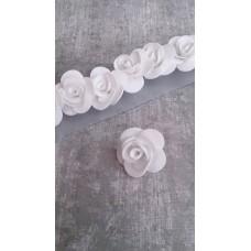 Пружинки Розочки белые d:3см  латекс Цена: за 1 штуку №4239.23