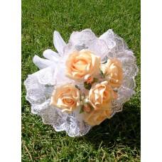 Букет невесты Персиковый (Латекс)