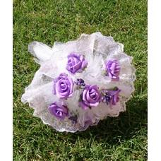 Букет невесты Сиреневый (Латекс)  №4260.190