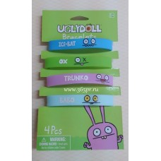 Браслет Ugly Dolls 4штуки №4270.130