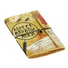 """Блокнот """"Адреса, пароли, явки"""" бумага, Размер: 9 × 14,5 см №4012.63"""