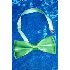 Галстук бабочка классика, цвет: зеленый,  5,5х12,5см №4033.40