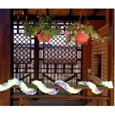 Лента для украшения спираль, атлас, 3 метра, цвет: бело/салатовая/сиреневая №3797.225
