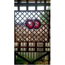 Два кольца для украшения квартиры, зала, стен, штор; атлас; цвет: триколор №3800.150