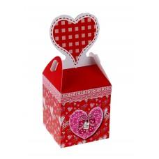 Коробка сборная 12,5 х 9 х 10,5 с сердцем №3809.110