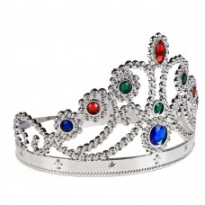 """Корона """"Царевна"""" серебристая 12 см №3811.31"""