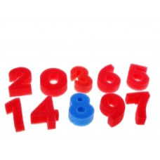 """""""Цифры"""", набор 10 шт, размер 1 шт: 2×4×5,5см №3880.40"""