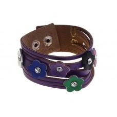 """Браслет """"Полянка"""", цвет фиолетовый, 0,3 × 8,5 × 20 см №3710.54"""