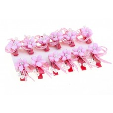 Декор на прищепке цветы (набор 4 шт) Сказочный цветок розовый №3724.88