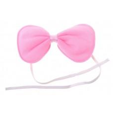 Бант розовый 11х5 см, текстиль №3756.40