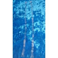 Лямки-бретели силиконовые, декоративные цвет рисунка: серебро №3540.30