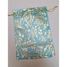 Мешочек для лепестков, конфетти, сувениров, подарков и т.п. голубой, 12,5х17,5 см №3596.14