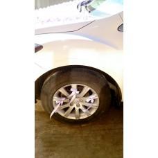 Украшения на 4 колеса машины, 12 лент, цвет: сиреневые №3456_2.240