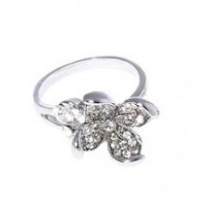 "Кольцо ""Лилия"", цвет: серебро , размер 19 №3461_1.69"