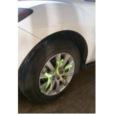 Украшения на 4 колеса машины, 12 лент, цвет: салатовый №3466_3.240