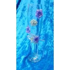 "Бокалы ""Цветы""   набор 2 штуки цвет:сиреневый SvetikFantasy №2976.560"