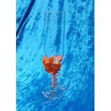 "Бокалы ""Цветы""   набор 2 штуки цвет: оранжевый SvetikFantasy №3219.560"