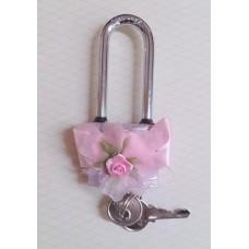 Замочек розовый SvetikFantasy Размер:4х9,5 см №3242.263