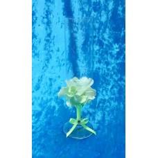 """Бокалы """"Цветы""""   набор 2 штуки цвет:мятный SvetikFantasy №3268.560"""
