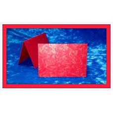 Карточки для гостей SvetikFantasy, цвет: роза красная с золотом   Размер: 7 х 10 см №3294.12