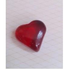 """Аксессуар акриловый """"Сердце"""" (красное), 2,5 см"""