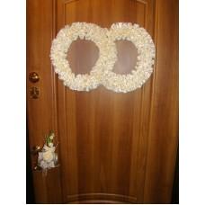 Два кольца для украшения квартиры, зала, стен, штор атлас цвет: айвори №2800.150