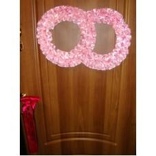 Два кольца для украшения квартиры, зала, стен, штор атлас  цвет: розовый №2818.101