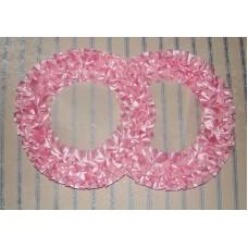 Два кольца для украшения машины атлас цвет: розовый №2818.101