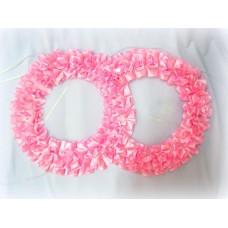 Два кольца для украшения машины атлас цвет: розовый №2822.101