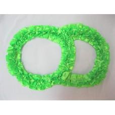 Два кольца для украшения машины атлас цвет: салатовый №2826.101