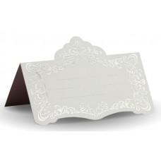 Банкетная карточка Размер: 5,5х9,5 см цвет: белый №2886.100