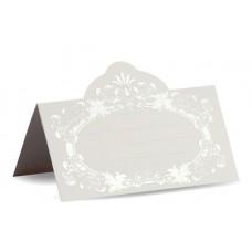Банкетная карточка Размер: 5,5х9,5 см цвет: белый №2887.100