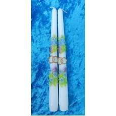 Набор свечей Нежность,2штуки, 2,3х25 см, цвет:белый, время горения 8 ч №2928.98