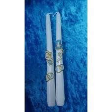 Набор свечей Дуэт ,2штуки, 2,3х25 см, цвет:белый, время горения 8 ч №2929.105